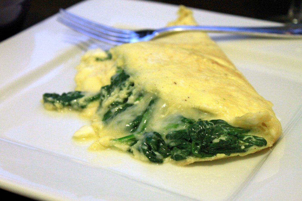 Cheesy Spinach Omelet with Toast
