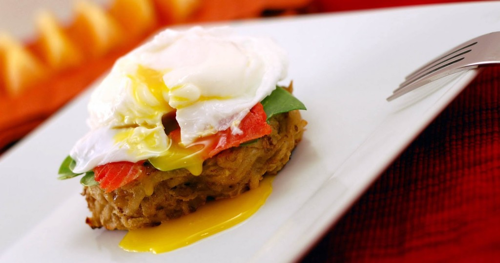 Poached Egg and Spinach Potato Pancakes