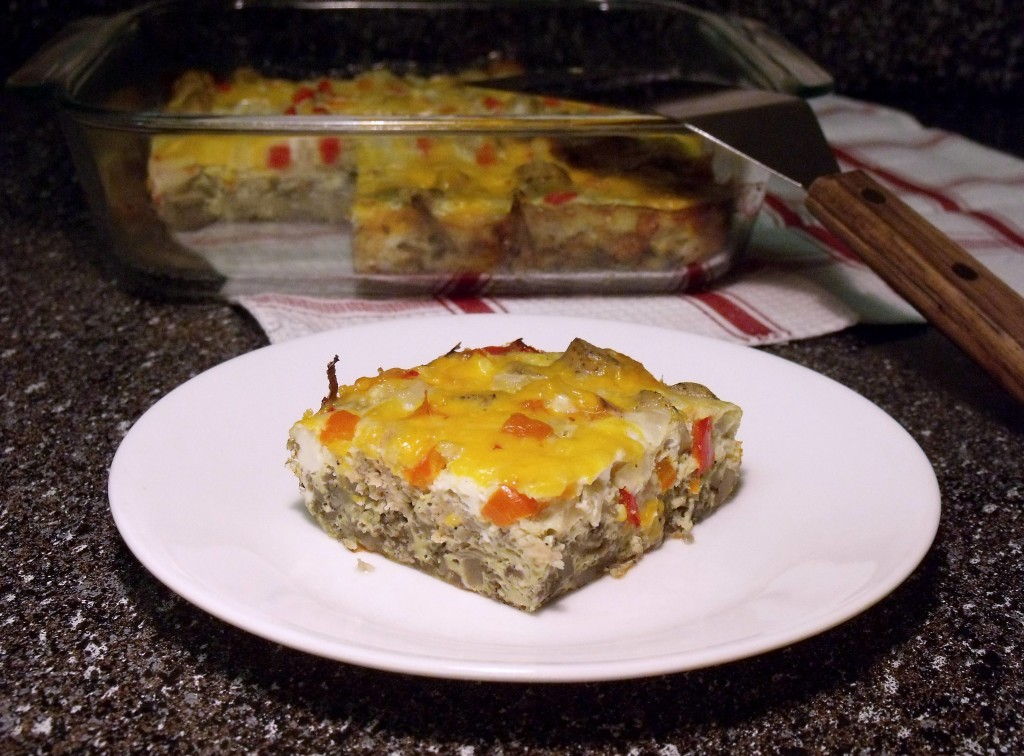 Vegetable With Chicken Sausage Egg Bake