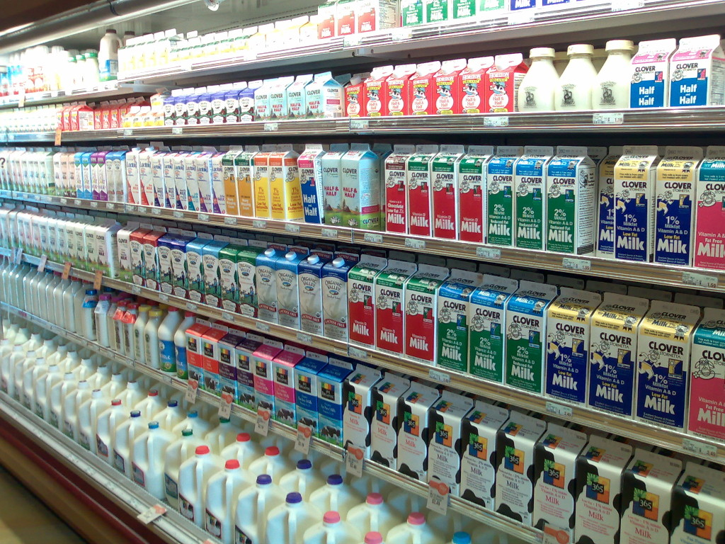 Milk products variety