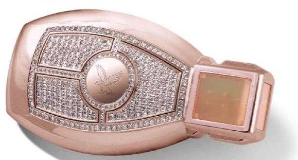 Mercedes Benz pink diamond and rose gold car key