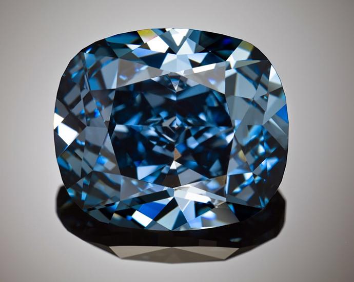 the 12.03-carat Blue Moon Diamond